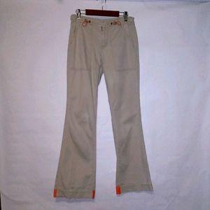 Z cavaricci skinny flare bottom khaki pants jeans
